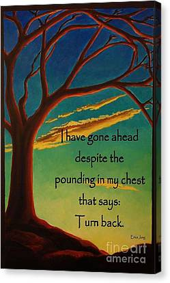 Canvas Print featuring the digital art I Have Gone Ahead by Janet McDonald