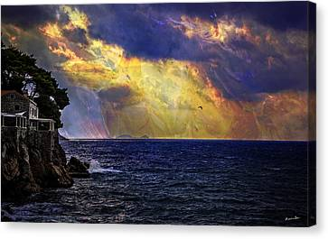 I Have Seen Fire And I Have Seen Rain Canvas Print by Madeline Ellis