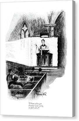 I Hear We've Got Fosdick Next Week Canvas Print by Bruce Bairnsfather