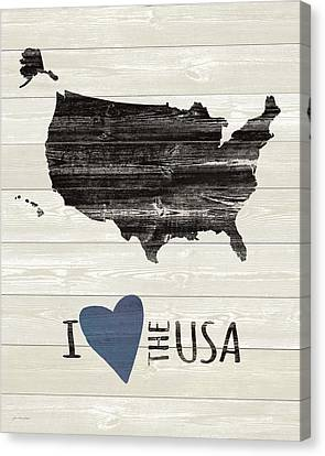 I Heart The Usa Canvas Print