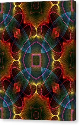 Canvas Print featuring the digital art I I U by Owlspook
