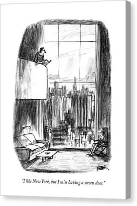 Screen Doors Canvas Print - I Like New York by Robert Weber