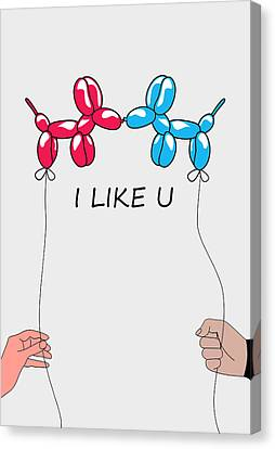 I Like You 2 Canvas Print by Mark Ashkenazi
