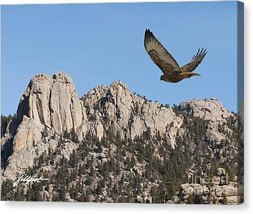 I Live In High Country Canvas Print