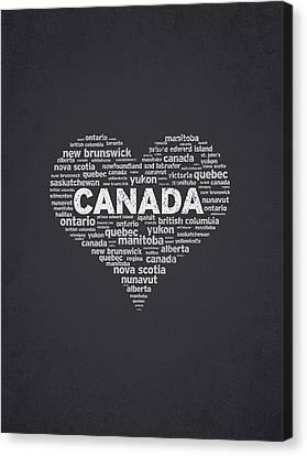I Love Canada Canvas Print by Aged Pixel