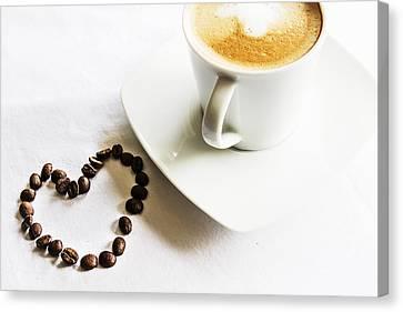 I Love Coffee Canvas Print by Georgia Fowler