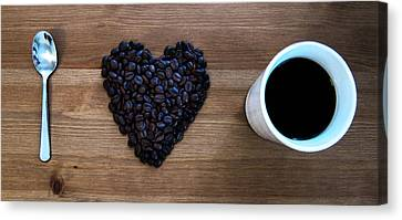 Coffee Beans Canvas Print - I Love Coffee by Nicklas Gustafsson