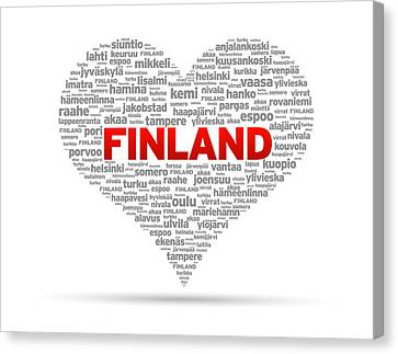 Patriotism Canvas Print - I Love Finland by Aged Pixel