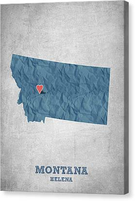I Love Helena Montana - Blue Canvas Print by Aged Pixel