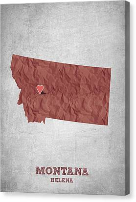 I Love Helena Montana - Red Canvas Print by Aged Pixel