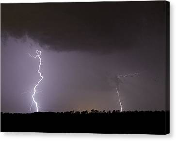 I Love Lightning Canvas Print by John Crothers