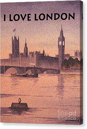 I Love London Canvas Print