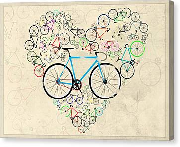 Messenger Canvas Print - I Love My Bike by Andy Scullion