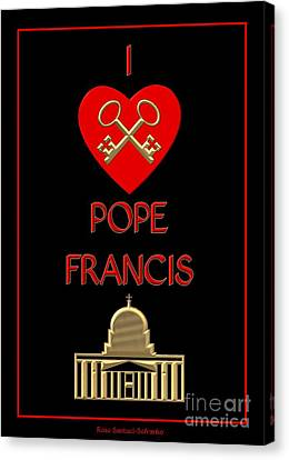 I Love Pope Francis Canvas Print