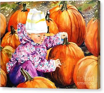 I Love Pumpkins Canvas Print
