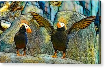 I Love So Much Canvas Print by Francine Dufour Jones