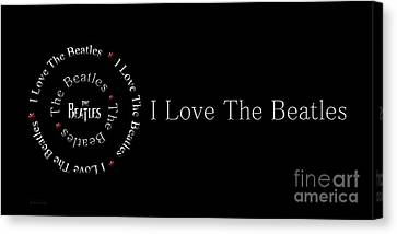 I Love The Beatles Panorama Canvas Print