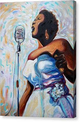 I Love The Blues Canvas Print by Emery Franklin