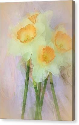 Heavenly Canvas Print - I Love The Daffodils... by The Art Of Marilyn Ridoutt-Greene