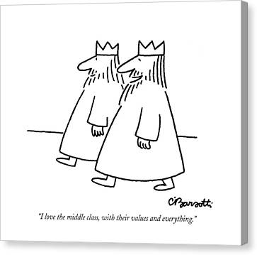 Value Canvas Print - I Love The Middle Class by Charles Barsotti