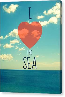I Love The Sea Canvas Print by Maya Nagel