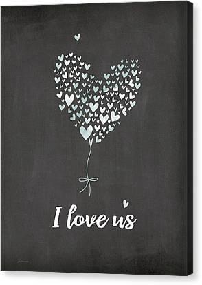 I Love Us Canvas Print by Jo Moulton
