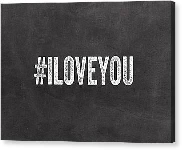 I Love You - Greeting Card Canvas Print by Linda Woods