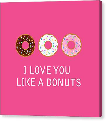 I Love You 7 Canvas Print by Mark Ashkenazi