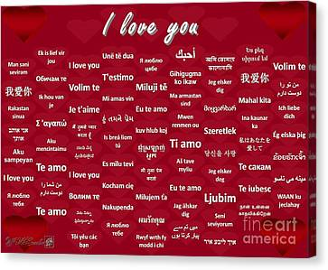 I Love You Canvas Print by J McCombie