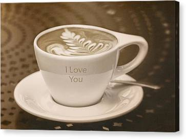 Kim Klassen Texture Canvas Print - I Love You by Kim Swanson