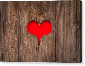 I Love You Canvas Print by Martin Bergsma