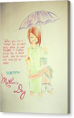 Mother's Day- I Love U Mom Canvas Print by Tanmay Singh