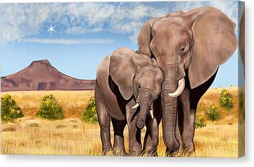 I Love You My Son Canvas Print by Arun Sivaprasad
