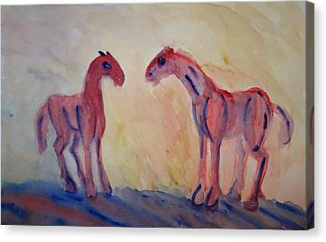 I Love You Too But I Love Them Also  Canvas Print by Hilde Widerberg