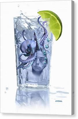 Booze Canvas Print - I Make A Killer Drink by Joseph Juvenal