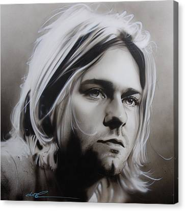 Kurt Cobain - ' I Need An Easy Friend ' Canvas Print by Christian Chapman Art