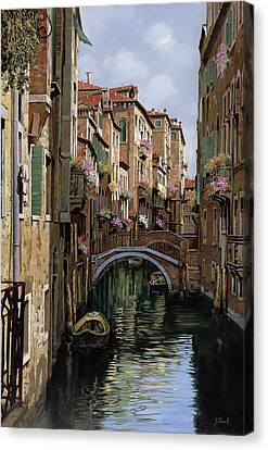 I Ponti A Venezia Canvas Print by Guido Borelli