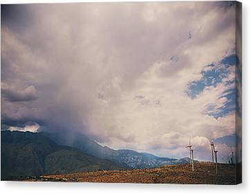 Wind Turbines Canvas Print - I Predict Rain by Laurie Search
