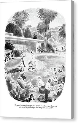 Etc Canvas Print - I Roamed The World Trying To Find Myself by Richard Taylor