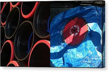 I Saw A Circular Saw Canvas Print by Marlene Burns