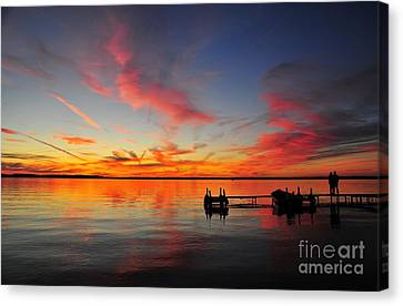 Firecracker Sunset 2 Canvas Print by Terri Gostola