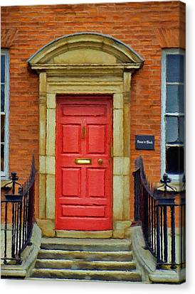 I See A Red Door Canvas Print by Jeff Kolker