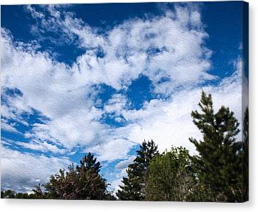 I See A White Cloud Looking At Me Canvas Print by Omaste Witkowski