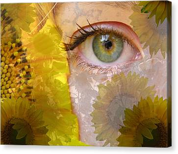 I See Sunflowers Canvas Print