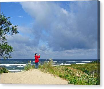 I See The Sea. Juodkrante. Lithuania Canvas Print by Ausra Huntington nee Paulauskaite