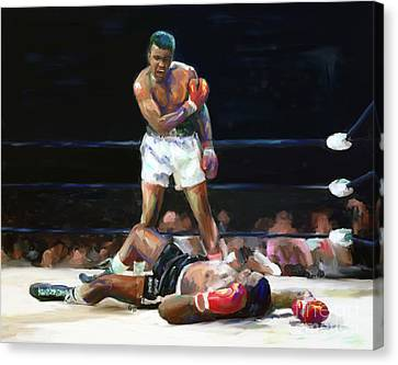 Heavy Medal Canvas Print - I Shook Up The World by G Cannon