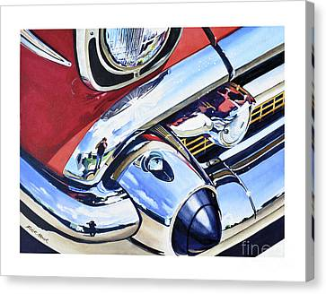 57 Chevy Canvas Print - I Shot The Chevy by Rick Mock