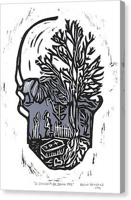Lino Canvas Print - I Shouldn't Be Doing This by Kevin Houchin
