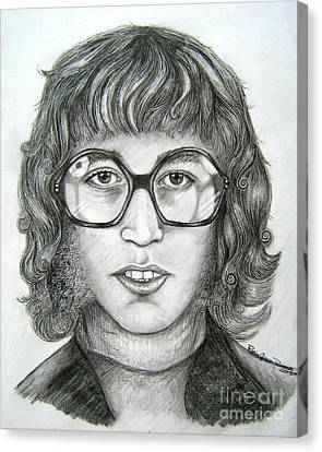 Canvas Print featuring the drawing Robin Gibb by Patrice Torrillo