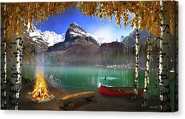 I Stillness I Heal Canvas Print by David M ( Maclean )